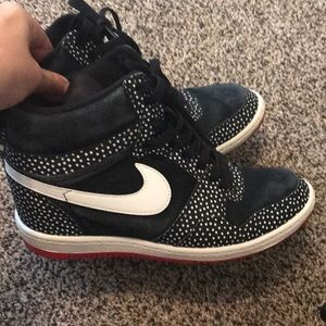 Nike hidden wedge sneakers still in Good condition